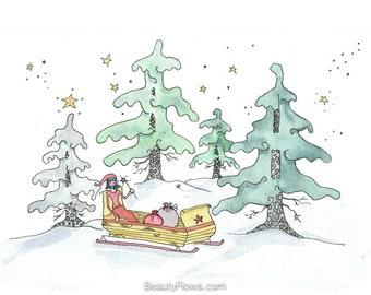 Winter Wonderland, Greeting Card or Photographic Art Print
