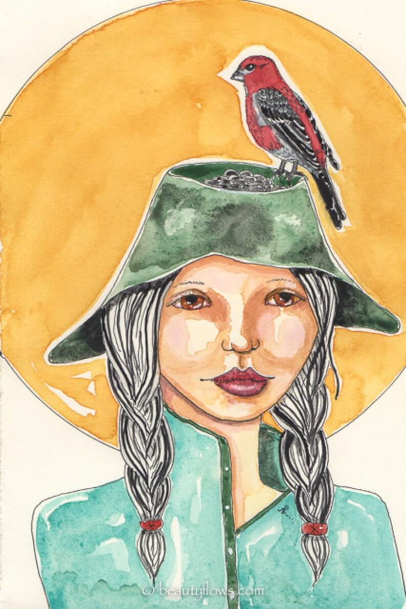 Pine Grosbeak Hat as a Bird Feeder For Birders Bird Lover image 0