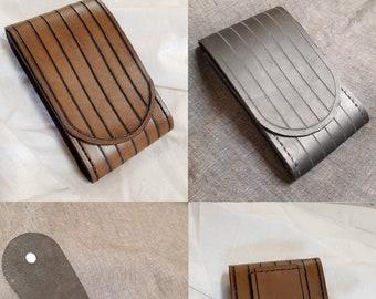 Jedi Pouch - Leather - Handmade - Light Brown, Dark Brown or Black