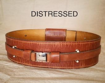 Jedi Belt, BROWN or BLACK! - CUSTOM - Leather, made to order!