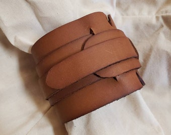 Rey Upper Arm Cuff - Inspired by Star Wars Episode IX, the Rise of Skywalker - handmade, leather