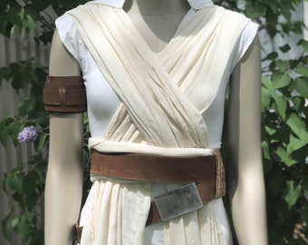 Rey Accessory Set - Rise of Skywalker - Belt, Cuffs, and Holster - Leather, made to order