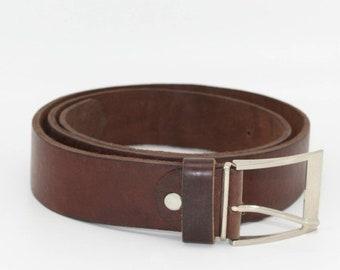 Ceinture en cuir marron, ceinture, ceinture à boucle en laiton massif,  ceinture en cuir femme, ceinture en cuir, hommes ceinture en cuir marron,  ... d5f516c22d1