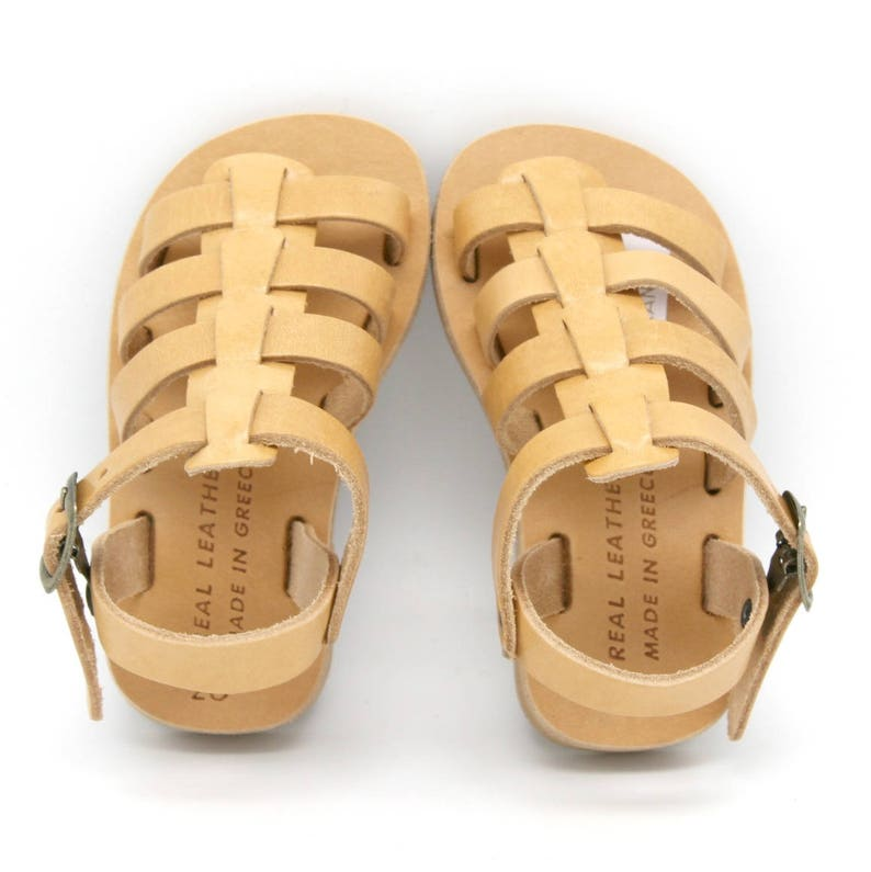 8a911fb9942ac Boys leather sandals. girls gladiator sandals,toddlers sandals, greek  sandals children,-Sandales multi-brides en cuir enfant-kids sandals
