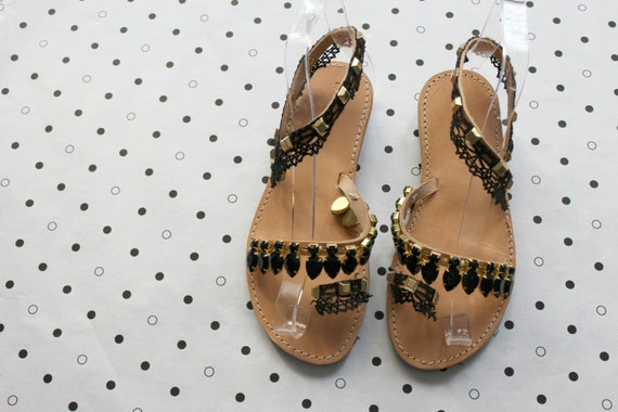 lace dentelle Leather lace sandals femme with lace sandales noir bridal black femmes sandals sandals white sandals sandales wzqCU