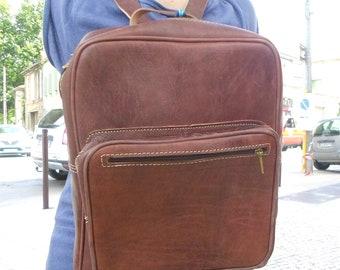 SALE !Big leather Backpack,Men's big Backpack, leather bag,zaino, sac a dos,mens leather backpack, womens leather backpack, laptop backpack