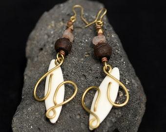 Maroon Brass Drop earrings,African Beaded Maroon Drop Earrings,Afrocentric Brass Drop Earrings