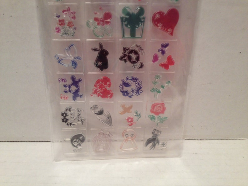 24 Plannr Stamps Set New Acrylic Flowers Gefts House Butterfly Bunny Bird Birdcage Crafts Scrapbooking Inchies Card Making Altered Art