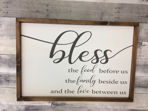 Merveilleux Bless The Food Before Us/ Dining Room Signs/ Kitchen Signs/ | Etsy