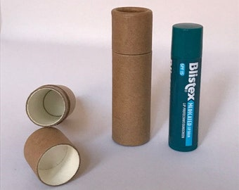 Kraft Paper Push Up Lip Balm Tubes 0.3 oz Capacity - 50 TUBES - Biodegradable - Go Green