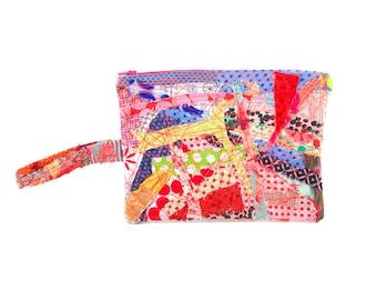 Zipper Pouch, School Supplies, pencil case, Zero waste gift, Children Pouch, Stocking stuffer, Handmade gifts, Fabric pouch, Quilt purse