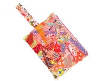 School Supplies, Quilt purse, pencil case, Zipper Pouch, Zero waste gift, Children Pouch, Stocking stuffer, handmade gifts, Fabric Pouch