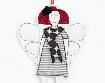 Christmas deco, Handmade ornament, Home decor doll, Angel doll, Fairy doll, Angelic décor, Hanging angel, Tree ornaments, Fairies doll