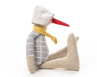 Doll toy, Stuffed animal, Handmade doll, Handmade bird, Bird doll, Fabric doll, Handmade Plush toy, Gender neutral gift, Baby room décor