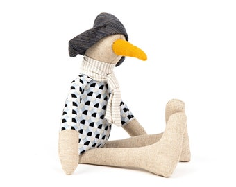 Stuffed Animal Toy, Nursery décor, Eco friendly gift, Handmade bird, Bird doll, Handmade doll, Fabric doll, Animal doll , One of a kind doll