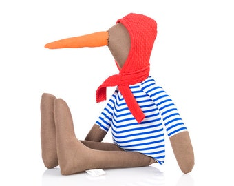 Duckling, Eco friendly gift, Baby toddler kids, Home decor toy, Newborns gift idea, Bird doll, Fabric doll, Cloth doll, Handmade animal doll