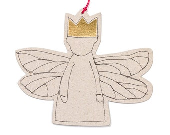 Tree decoration, Modern Christmas,Tree ornament, 4 Paper angel, Gift tag, Holiday decoration, Angelic décor, Stocking stuffer, Eco christmas