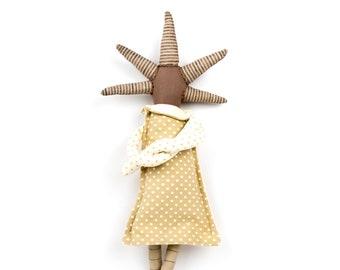 Art doll, First birthday gift, Handmade doll, Stuffed doll, Rag doll, Interior doll, First doll, Ooak doll, Cloth doll, Soft sculpture