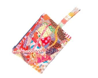 Stocking stuffer, Pencil Bag, Eco friendly gift, Zipper Pouch, Handmade gift, Zero waste gift, Children Pouch, Crazy Patchwork, Quilt purse