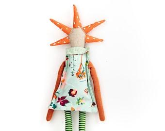 Nursery décor, Girls birthday gift ,Handmade doll, Stuffed doll, Rag doll, Interior doll, Modern doll, Decor doll, Ecofriendly toy, Art doll