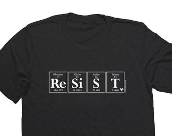 051a6884c RESIST by Periodically Inspired - Periodic Table and Trump-inspired Men's T- Shirt (Black) - RESIST Tee Shirt - Science Matters!