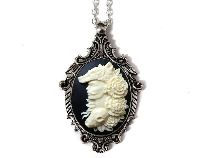 Wolf Man Cameo Necklace