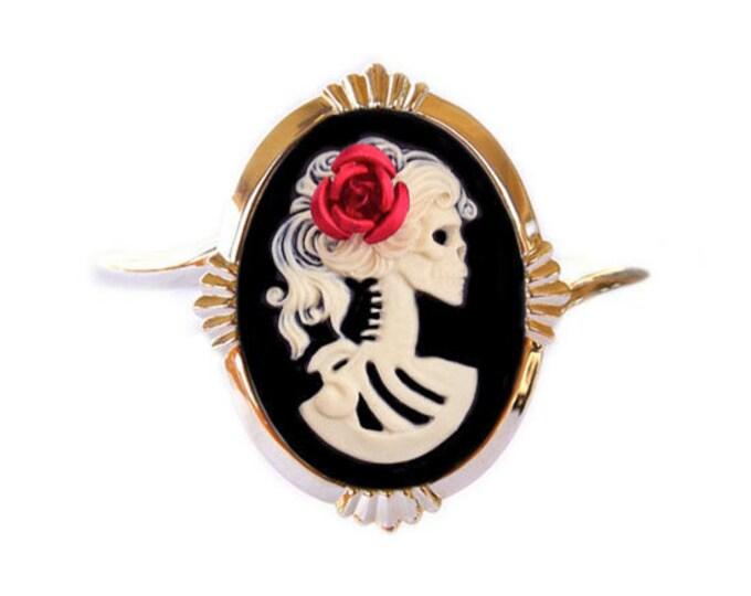 Lolita Skeleton Cameo Bracelet Cuff