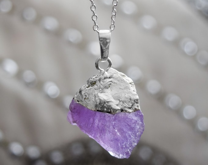 Gift For Her, Amethyst Crystal Quartz Necklace, Daughter Gift, Rainbow Crystal Jewelry, Girlfriend Jewelry, Womens Gift, Girlfriend Gift