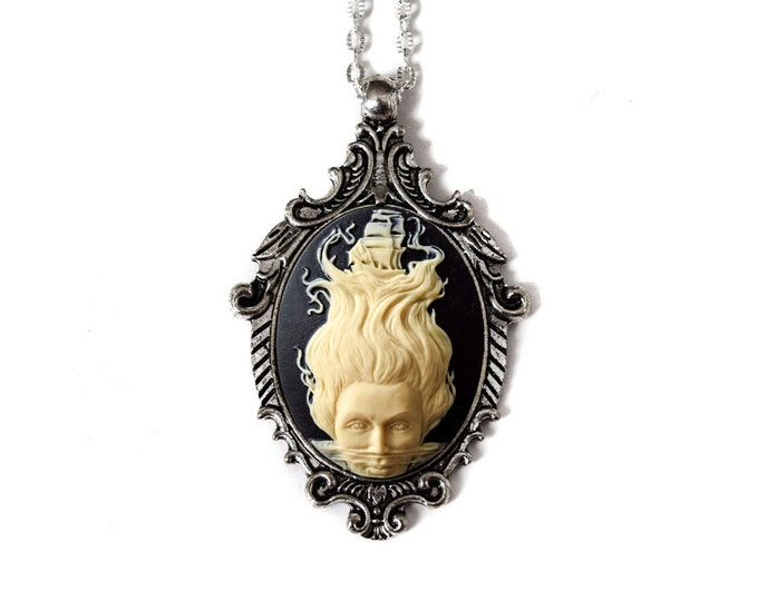 Lady of the Sea Cameo Necklace - Mermaid Jewelry - Fantasy Jewelry