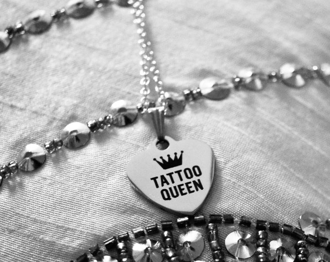 Tattoo Necklace - Heart Charm Pendant