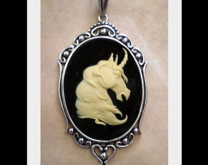 Unicorn Cameo Necklace - Magical Ivory - Fantasy Jewelry