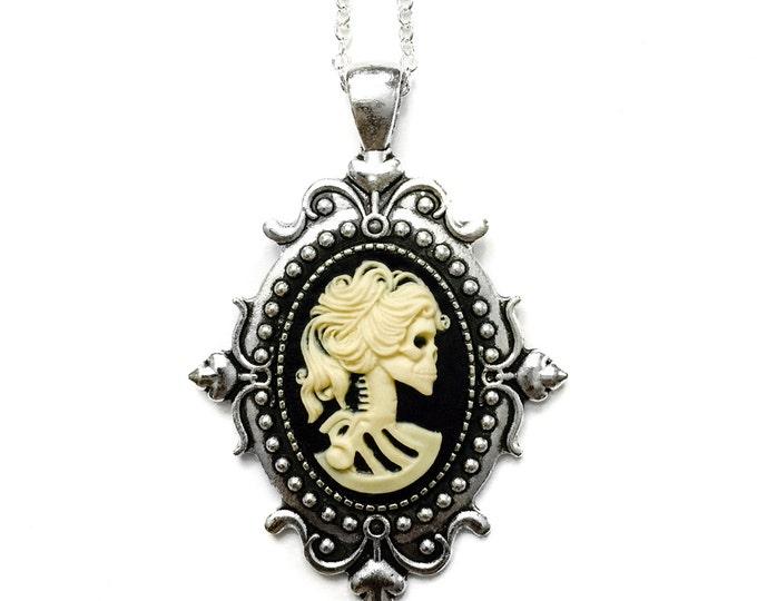 Skeleton Cameo Necklace - Petite Jewelry