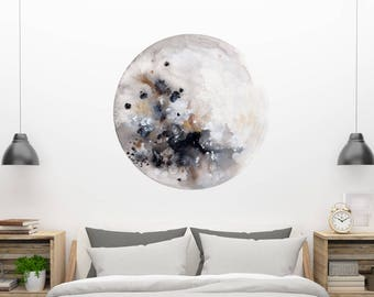 Wall Decals Moon Art Wall Stickers Moon Decal Nursery Bedroom Decor Moon Sticker Large Moon Wall Decal Moon Print Peel and Stick Decal