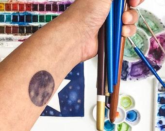 Moon Phase Tattoo Etsy