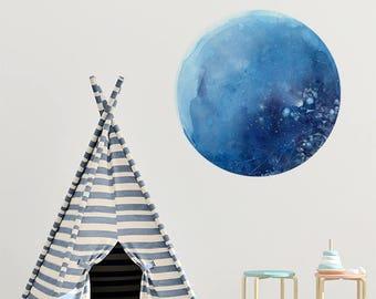 Blue Moon Wall Decal | Moon Wall Art Decor. Wall Sticker Nursery Moon. Self Adhesive Vinyl. Blue Moon Wall Sticker. Self Adhesive Decor Moon