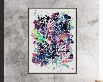 Abstract Art Print Large Wall Art Digital Print Abstract Watercolor Modern Abstract Wall Art Minimalist Print Black and White CreativeIngrid