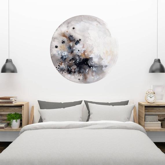 moon wall decal moon art wall stickers moon decal nursery | etsy