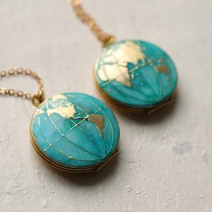 Personalized Locket World Necklace Universe Locket World Map Locket Earth Locket Earth Necklace Black World Globe Locket Map Locket