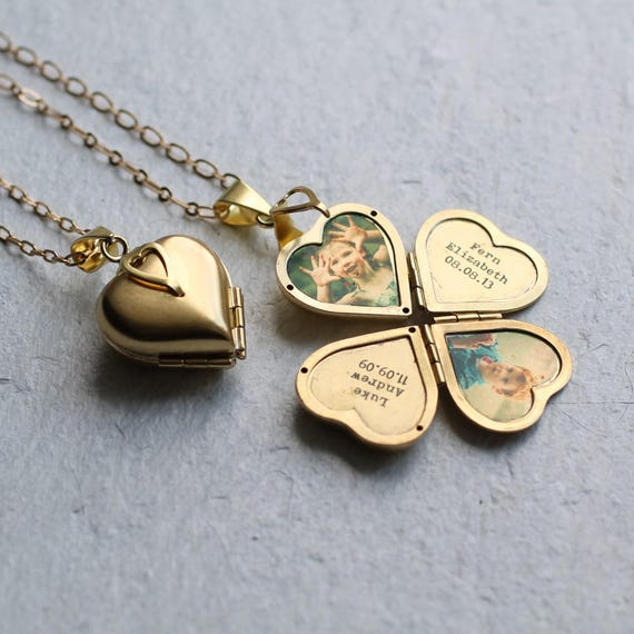 Mother Mom F/&F Heart Locket Photo Album Locket Miss You gift Wife Locket with Pictures Personalised Photo Birthday Gift for Girlfriend