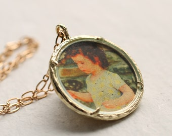 Personalised Photo Pendant, Engraved Necklace, Customized Jewelry, Personalized, Custom Jewellery