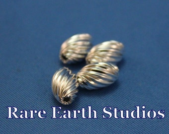 Sterling Silver Twisted Oval Beads 6.5mmx10.5mm 60516047