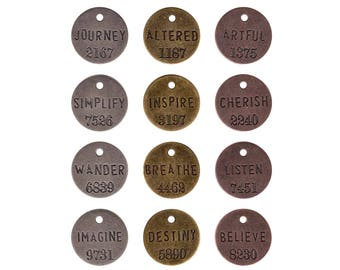 Tim Holtz, Idea-ology, Philosophy Tags, Qty.1 tag