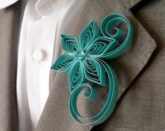 Pool Boutonniere, Pool Buttonhole, Pool Wedding Boutonniere, Pool Wedding