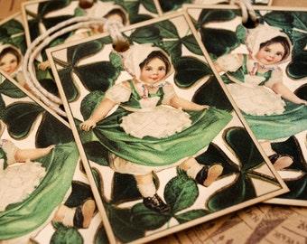 Irish Sweet Heart Vintage Style Tags Set of 6