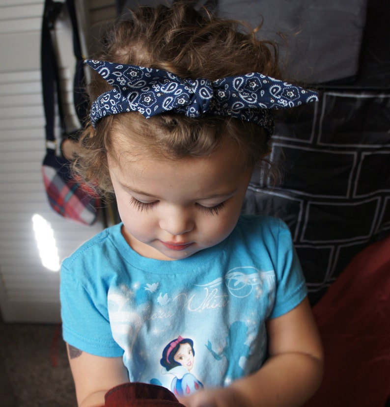 69f127c297 Olivia Paige Pin up Baby Girl Bandana headband
