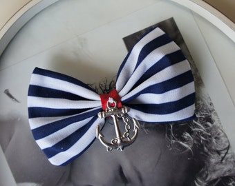 Olivia Paige - ROckabilly Anchor bow Pin up stripes