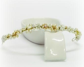 Crystal pearl tiara pearl wedding tiara bridal pearl crown pearl hair crown champagne pearl crown wedding pearl crown wedding pearl tiara