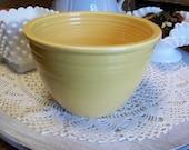 Vintage Fiesta Yellow Mixing Bowl 3 Inside Rings
