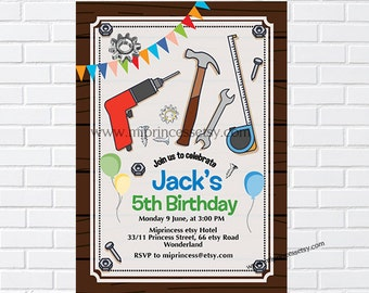 Tool invitation etsy tool invitation tool party boy party construction party tool birthday tools hammer truck party boy first birthday card 1018 filmwisefo
