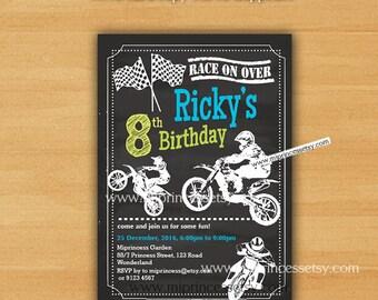Motocross invitation etsy dirt bike invitation birthday invitation biker party boy birthday boy party motocross party biker motorcycle invites bike card 888 filmwisefo
